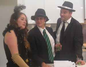 playing 1920s characters in a murder mystery