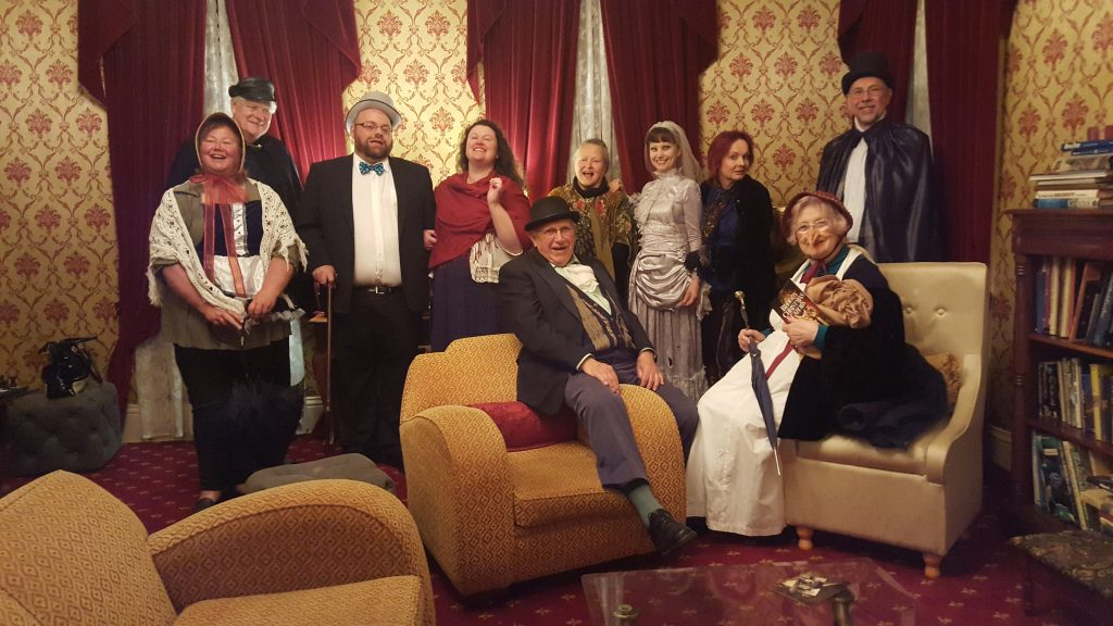 Dickens-mad Murder Party guests
